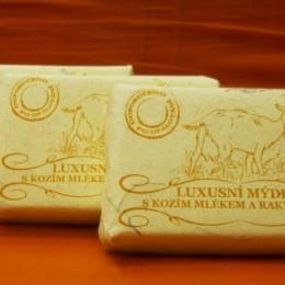 Luxusní mýdlo s kozím mlékem a rakytníkem 200g