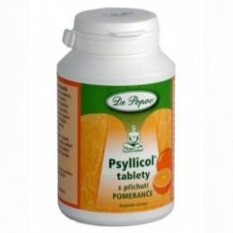 Psyllicol tablety s příchutí pomeranče 108g POPOV
