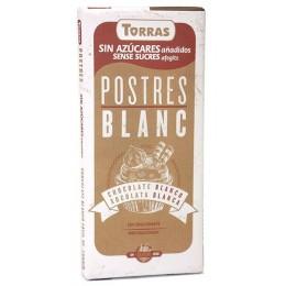 Bílá čokoláda na vaření bez cukru 200g TORRAS