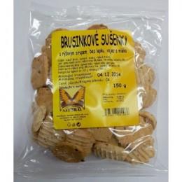 Brusinkové sušenky 150g bez lepku NATURAL