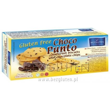 CHOCO PUNTO linecké sušenky s kousky čokolády bez lepku 130g