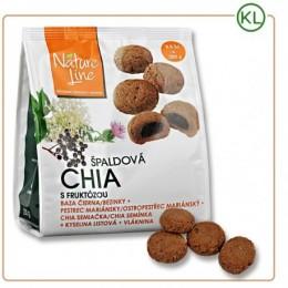 CHIA 200g špaldové sušenky s fruktózou