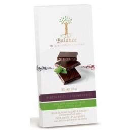 Balance hořká čokoláda se stevií, s borůvkami a jahodami,