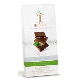 Balance mléčná čokoláda se stévií, s kokosem a křupinkam