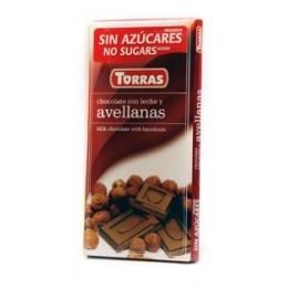 Mléčná čokoláda s lískovými oříšky 75g TORRAS