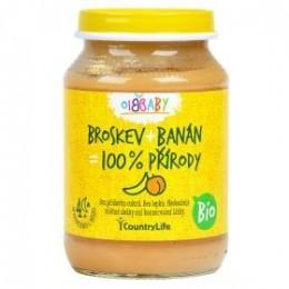 Příkrm broskev, banán 190 g BIO CL