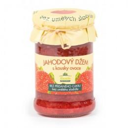Jahodový džem bez přidaného cukru 275g Kvasnička