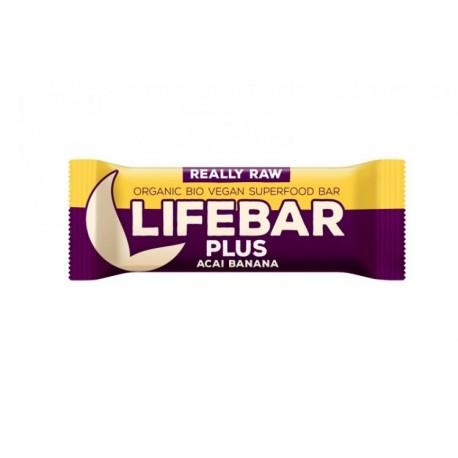 Lifebar Plus tyčinka açai s banánem BIO 47 g