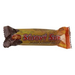 Sojový suk v tmavé polevě 50g