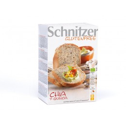 Chléb chia+quinoa bio bez lepku 500g SCHNITZER