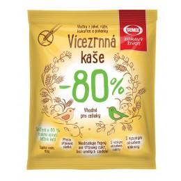 Vícezrnná kaše -80 % cukru 65 g Semix