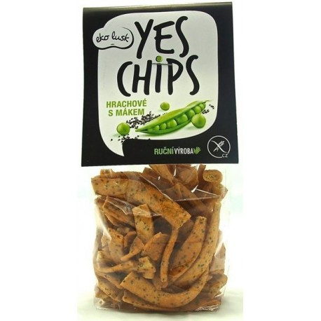 Yes Chips hrachové s mákem 80g.