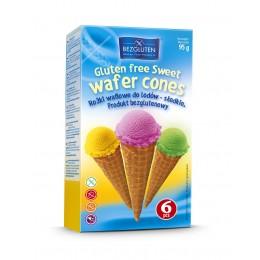 Kornouty zmrzlinové sladké bez lepku 95g (6ks) BEZGLUTEN