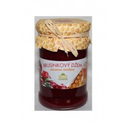 Brusinkový džem slazený medem 275g Kvasnicka