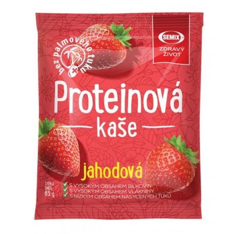 Proteinová kaše jahodová 65 g bez sacharózy Semix