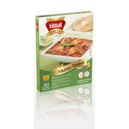 Indický domácí sýr s hráškem (Matar Paneer TOFU) 280g Ashoka