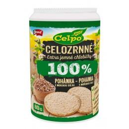 Extra jemné celozrnné chlebíčky pohankové s mořskou solí 80g Celpo
