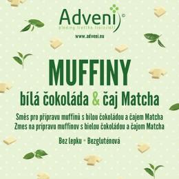 Muffiny bílá čokoláda & čaj Matcha 280g Adveni