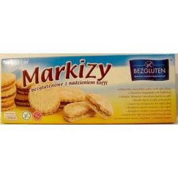 Bezlepkové sušenky markýzky s karamelovou náplní 200g Bezgl