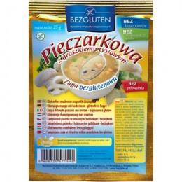 Polévka žampiónová s těstovým hráškem bezlepková Bezglu