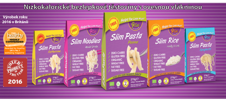 Slim pasta - nízkokalorické těstoviny bez lepku
