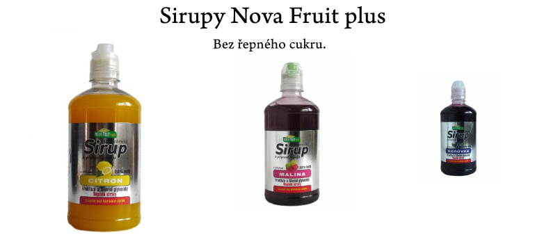 Sirupy a sladidla Nova Fruit Plus