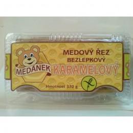 Medový řez karamelový bezlepkový 370g Medánek