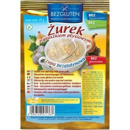"""""""Žurek"""" kvasná polévka s těstovým hráškem bezlepková 2"""