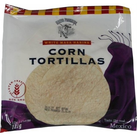 Corn tortillas 181g 12ks bezlepkové
