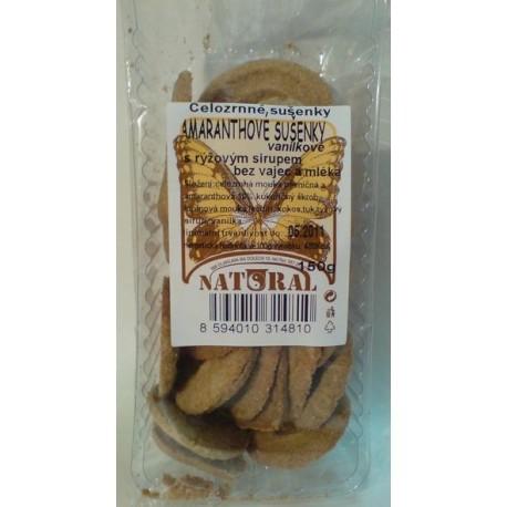 Amaranthové sušenky celozrnné 150g NATURAL
