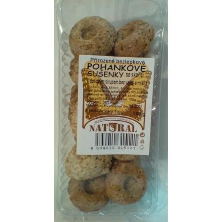 Pohankové sušenky se skořicí bezlepkové 150g NATURAL