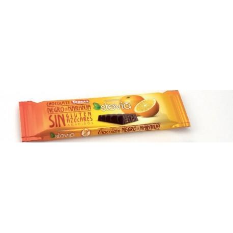 Hořká čokoláda s pomerančem 35g Torras