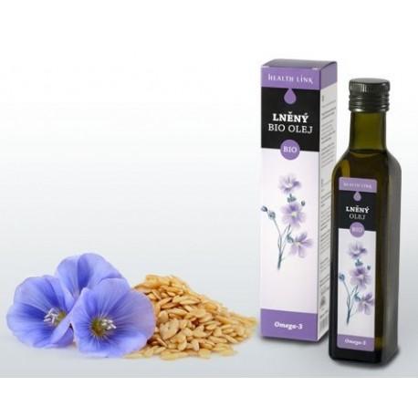 Lněný olej 250ml BIO Health Link