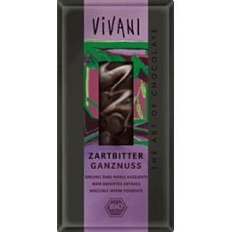 Bio čokoláda hořká s oříšky VIVANI 100 g