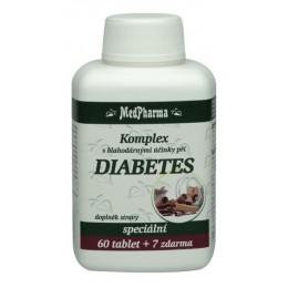 DIABETES - komplex s blahodárnými účinky, 67 tablet MedPharm