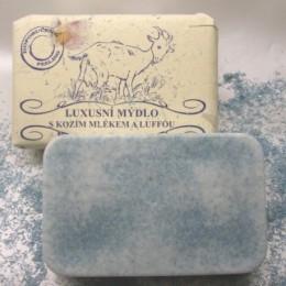 Luxusní mýdlo s kozím mlékem a luffou 200g