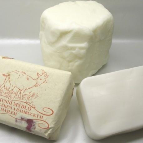 Luxusní mýdlo s kozím mlékem a bambuckým máslem 200g