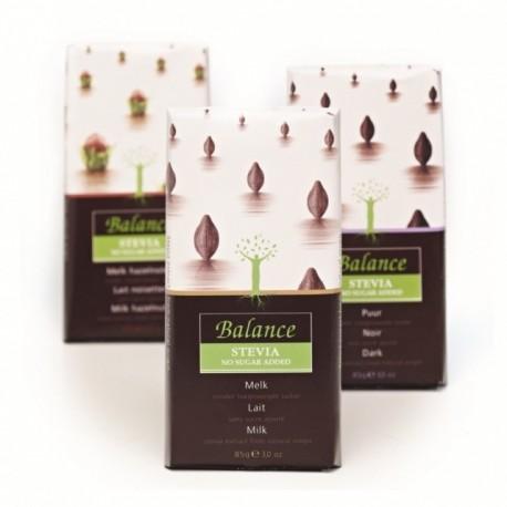 Balance mléčná čokoláda se stévií, bez cukru 85 g