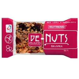 Denuts Ořechová tyčinka Brusinka 35g
