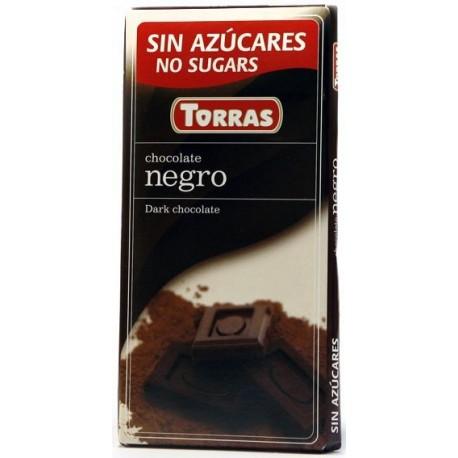 Hořká čokoláda 52% bez cukru 75g TORRAS