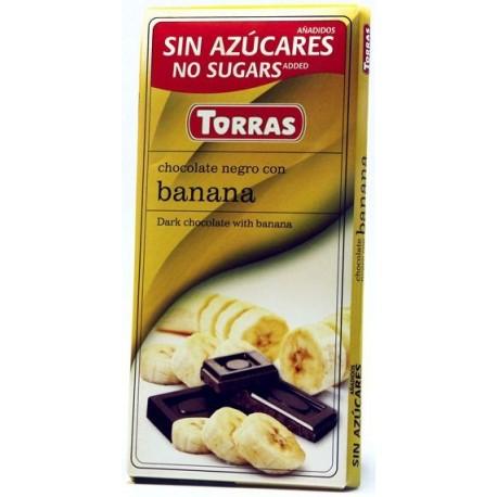 Hořká čokoláda s banánem bez cukru 75g TORRAS