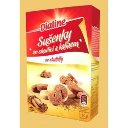Sušenky se skořicí a kakaem 180g DIALINE