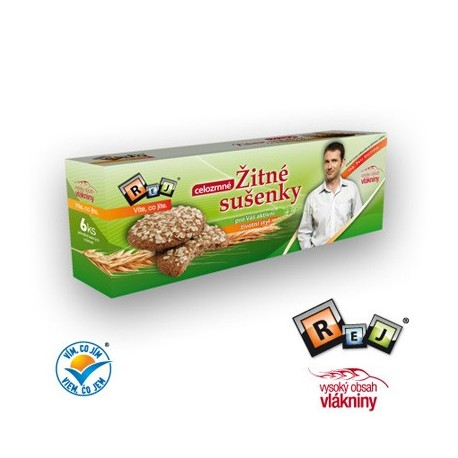 Žitné sušenky celozrnné 6ks REJ Havlíček