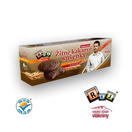Žitné sušenky celozrnné kakaové 6ks REJ Havlíček