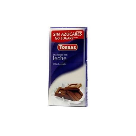 Mléčná čokoláda bez cukru 75g TORRAS