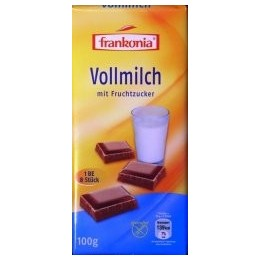 Frankonia - mléčná čokoláda bez cukru 100g