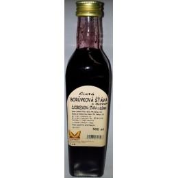 Čistá borůvková šťáva 500ml NATURAL