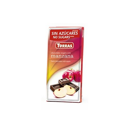 Hořká čokoláda s jablkem a sladidlem 75g TORRAS