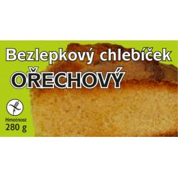 Chlebíček bezl. ořechový 280g MEDÁNEK