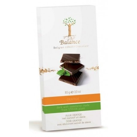 Balance hořká čokoláda se stévií, s pomerančem, bez přid
